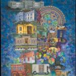 """Library,"" watercolor 2011"