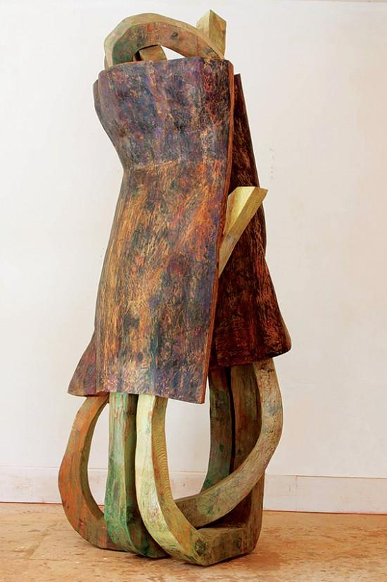 Rachel Rotenberg Journey, 8x3x3 feet, cedar wood, oil paint.