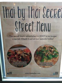 Secret Menu Thai