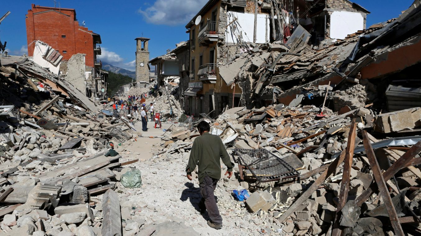 Photo  taken in Pescaa del Tronto, Ascoli Piceno by Reuters/Remo Casilli). Domenico Cornacchia, Chef/Owner of Assaggi Osteria, is originally from Ascoli Piceno, so this tragedy is very near and dear to his heart.